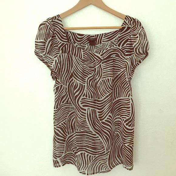 Ann Taylor Tops - Ann Taylor blouse zebra print size Large